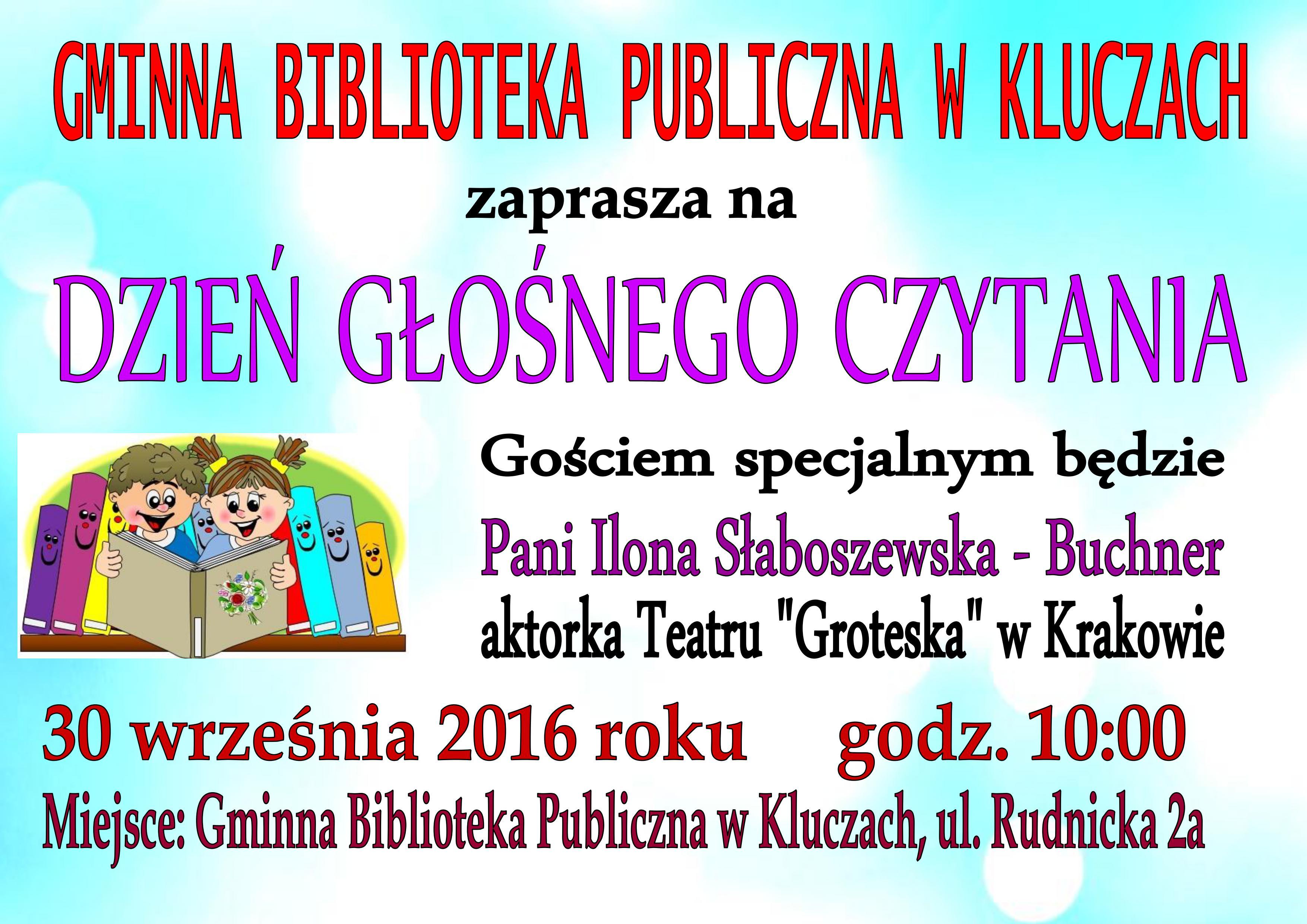 Więcej o: Dzień Głośnego Czytania z Gminną Biblioteką Publiczną w Kluczach