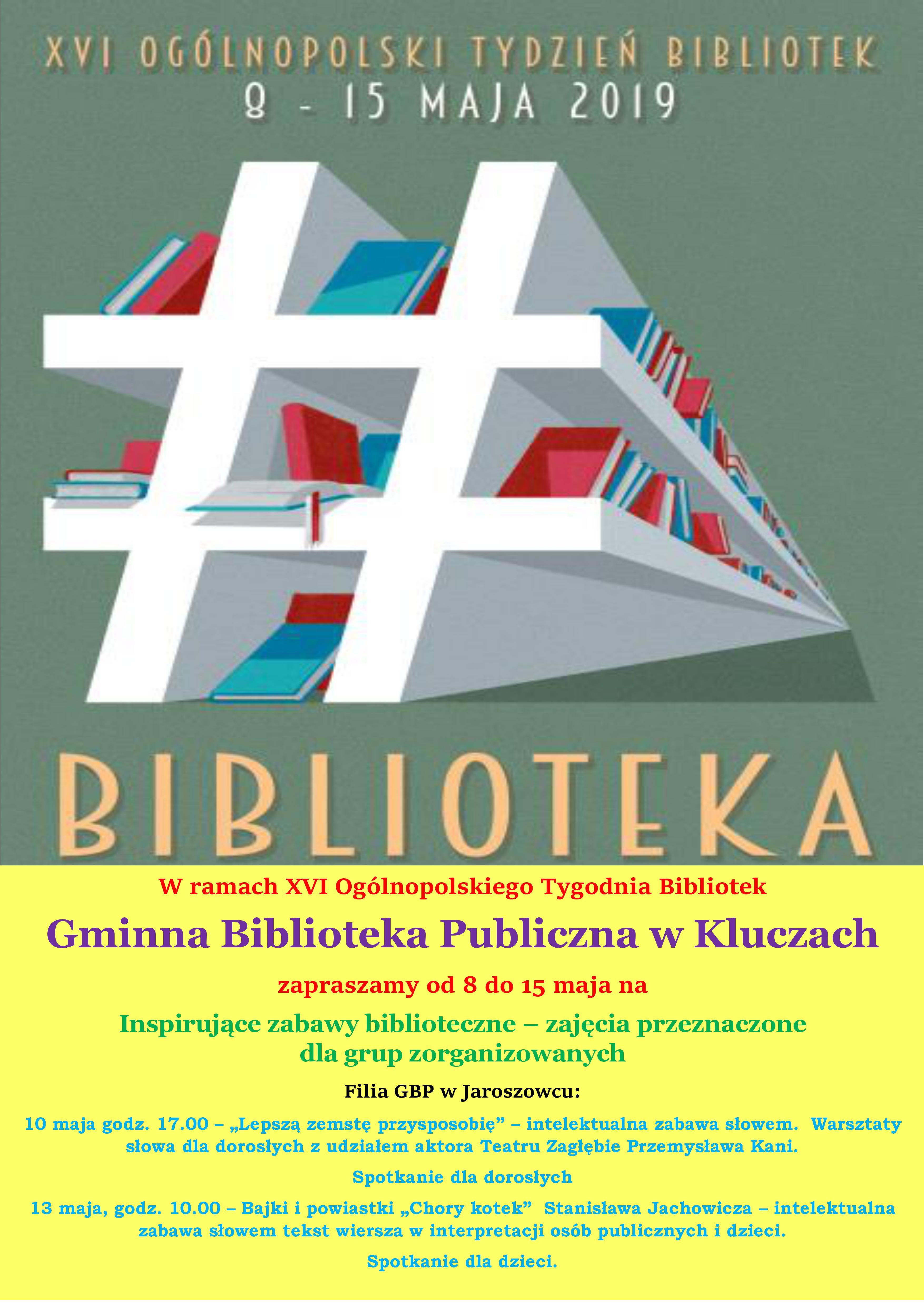 Więcej o: XVI Ogólnopolski Tydzień Bibliotek 😁😁😁😃😃😃