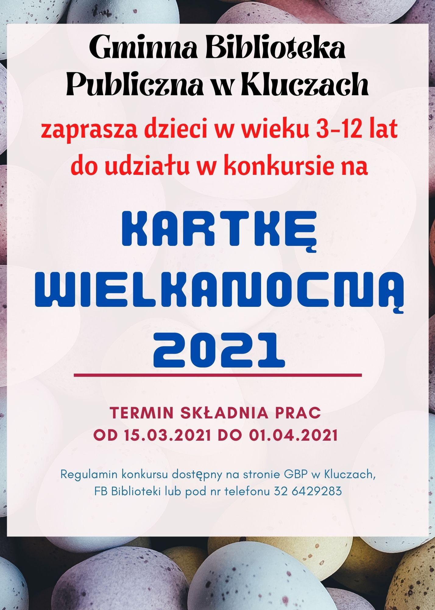 """Więcej o: Konkurs plastyczny na """"Kartkę wielkanocną 2021"""""""
